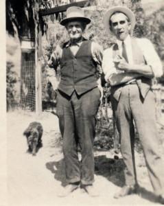 Albert with friend