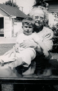 Bess & Great Grandson 1949