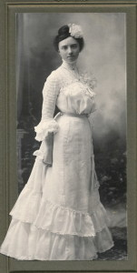 Blanche in Wedding Dress 1903