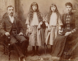 Bucher Family, Ludwig, Lillian, Blanche and Emma