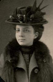 Lillian in hat