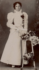 Lillian in wedding dress