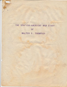 Diary Of Walter S. Thompson