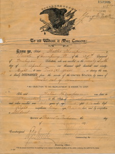 Enlistment Paper - Walter S. Thompson