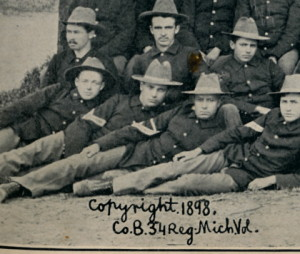 Close up, Walter in first row, far left.