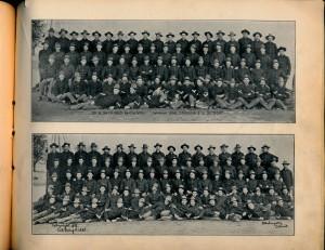 Company B 34th Regiment. Walter in front, far left