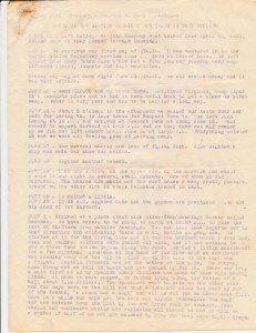 SAW 98 War Diary Pg. 1