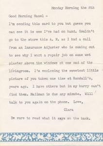 Randall clara letter