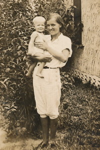 Mabel with Paul Jr.
