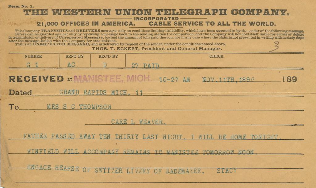 Stacy W. Western Union message