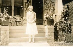 1920-30 Hazel in front of house