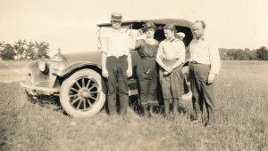 1920-30 WST family in front of car