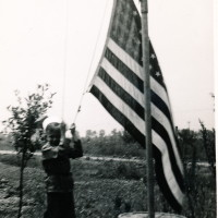 Herb raising the flag - 1943