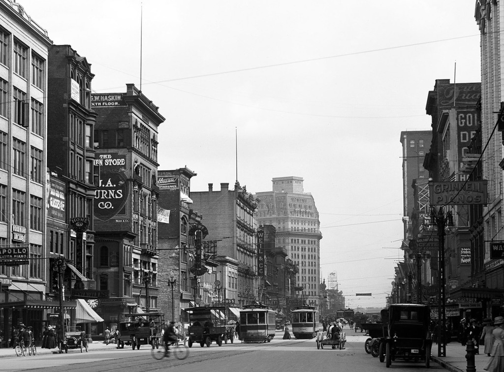 Downtown Detroit 1918