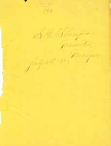 Stacy C. Thompson's Scrapbook July 14, 1873