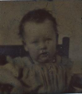 1856 metal photo of Ida Mae Goodenow