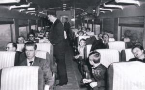 1953 Train interior