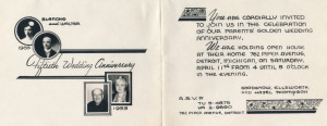 1953 anniversary invitation