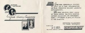 1953 anniversary invitation